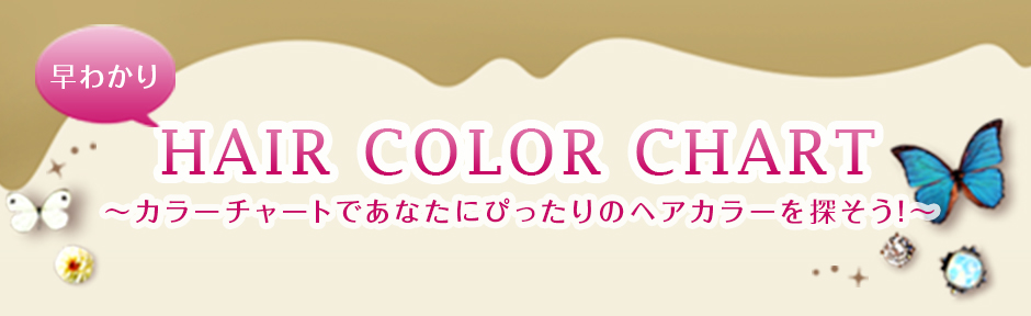 早わかり HAIR COLOR CHART